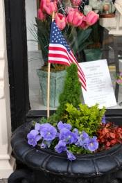 Sidewalk patriotism
