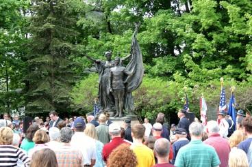 World War I bronze memorial