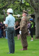 Taps played at several Wreath Ceremonies