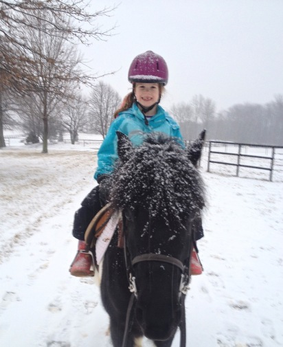 Claire and her pony, Pongo