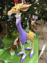 Giraffe ready for Christmas