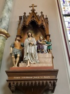 The first Station of the Cross, St. John the Baptist Cathedral, Savannah