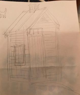 Garden shed sketch