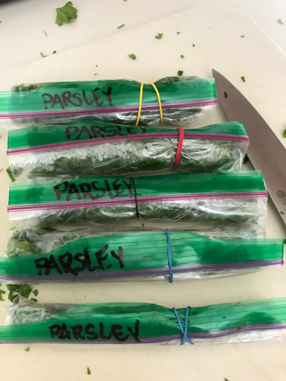 freezer parsley