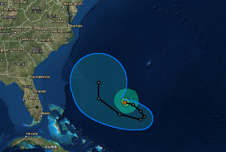 NOAA Hurricane Jose possible path