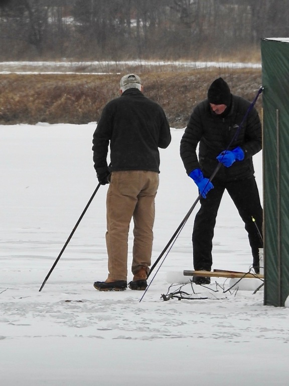 Exeter, ice fishing, Feb. 2019