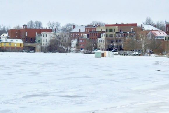 ice fishing, Exeter, Feb. 2019