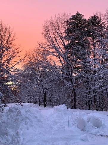 December 3, 2019 snow sunset